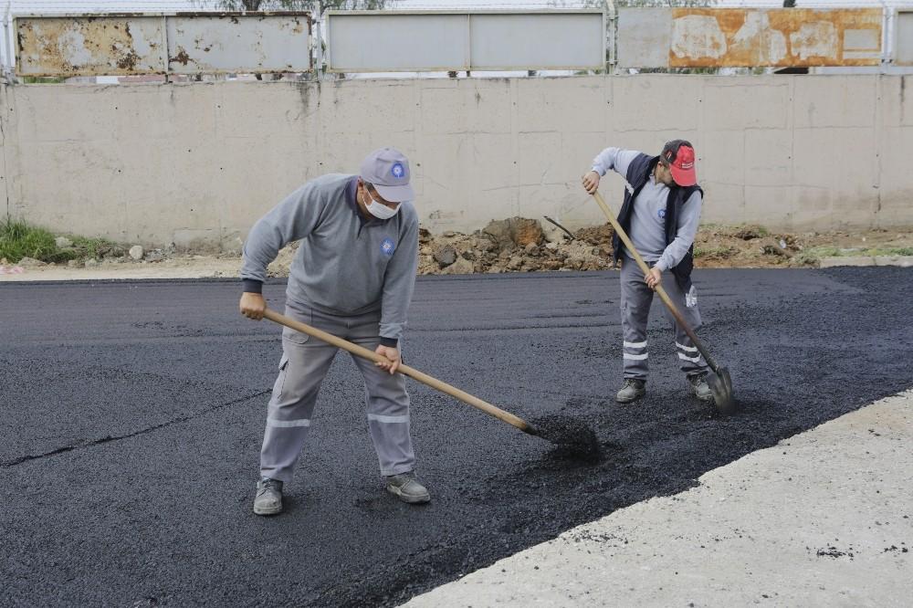 toptanci halinde 4 bin 500 metrekarelik alana asfalt calismasi 3 nD3vRsu3